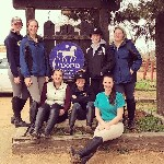 Equestrian students in Spain